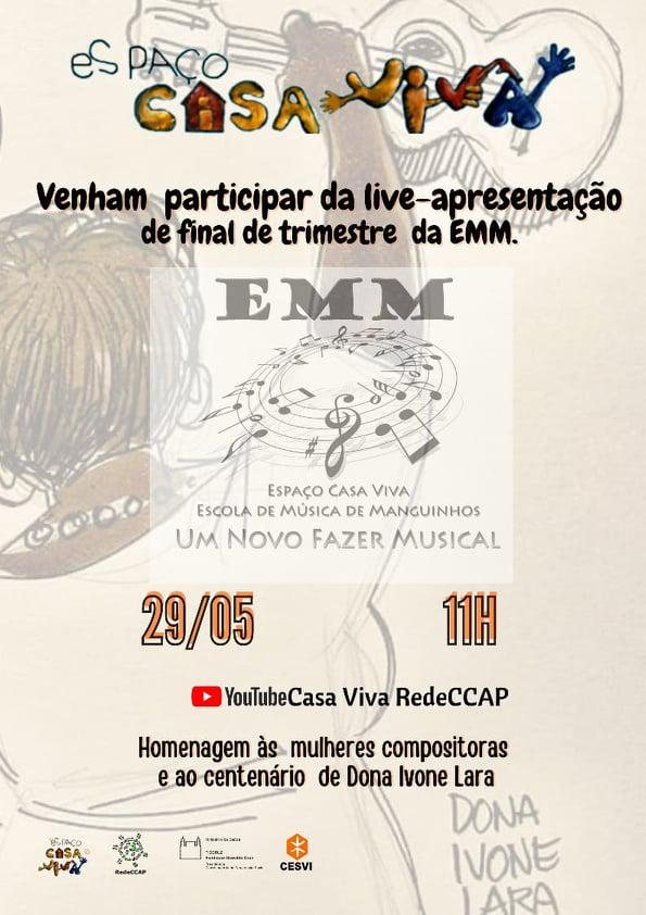 Live – Apresentação da Escola de Música de Manguinhos!