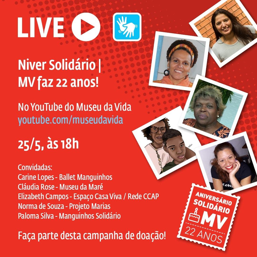 Live – Niver solidário Museu da Vida